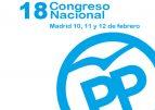 El 18 Congreso Nacional del PP se celebrará los días 10, 11 y 12 de febrero