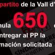 El tripartito de la Vall lleva sin dar documentación al PP más de 650 días