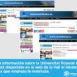 La información sobre la Universitat Popular no está disponible en la web de la Vall el mismo día que empieza la matrícula