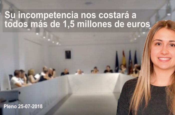 Tania Baños defiende a ultranza en el pleno a la empresa Almalafa perjudicando los intereses del Ayuntamiento de la Vall d'Uixó
