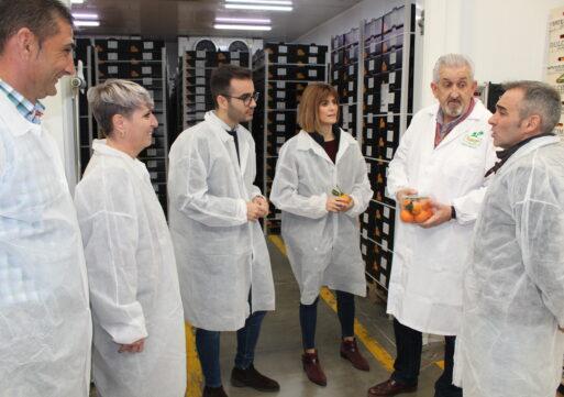 Carolina Castelló visita un almacén de naranjas de la Vall d'Uixó