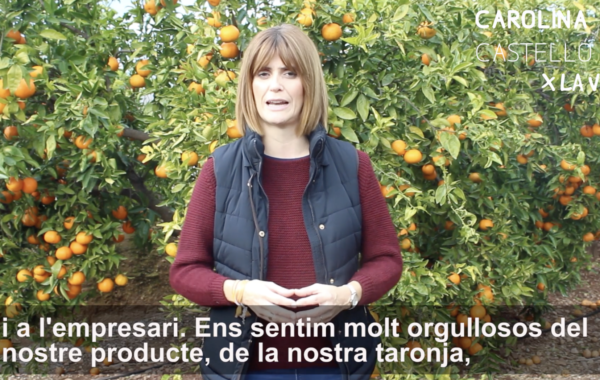 Carolina Castelló, amb el sector citrícola valler